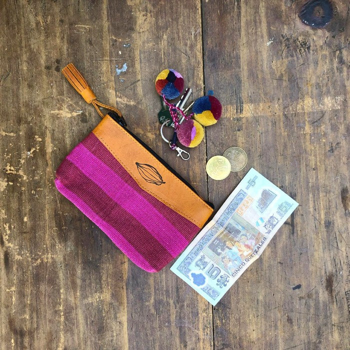 Textile + Leather Pouch 4