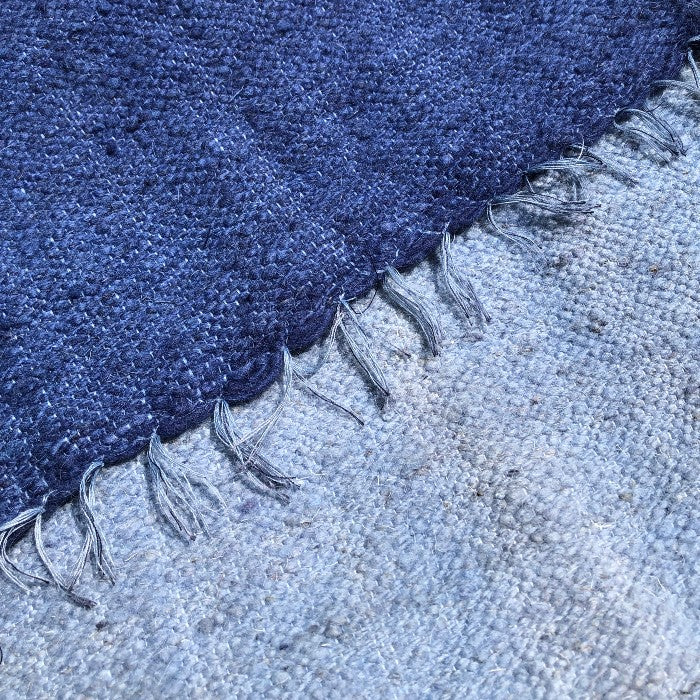 Small Wool Rug in Indigo Gradient