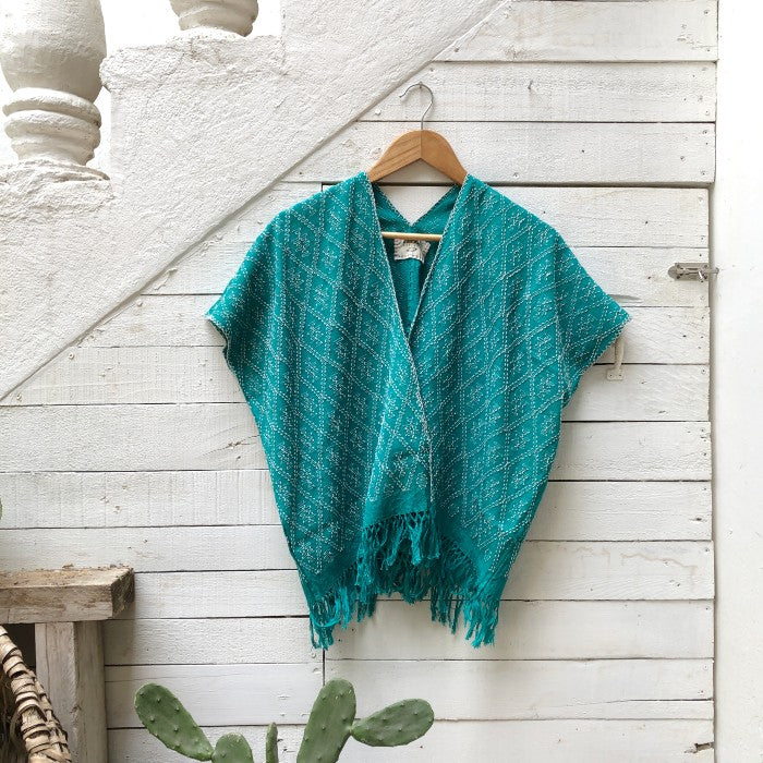 Summer Cardigan Emerald + Light grey