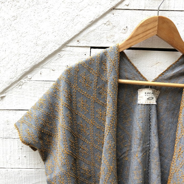 Summer Cardigan Grey + Ochre