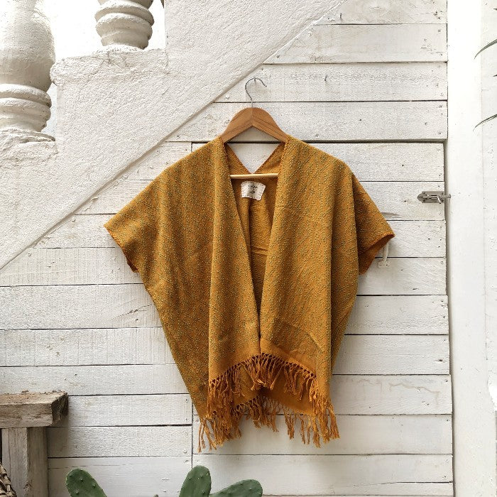 Summer Cardigan Mustard + Grey