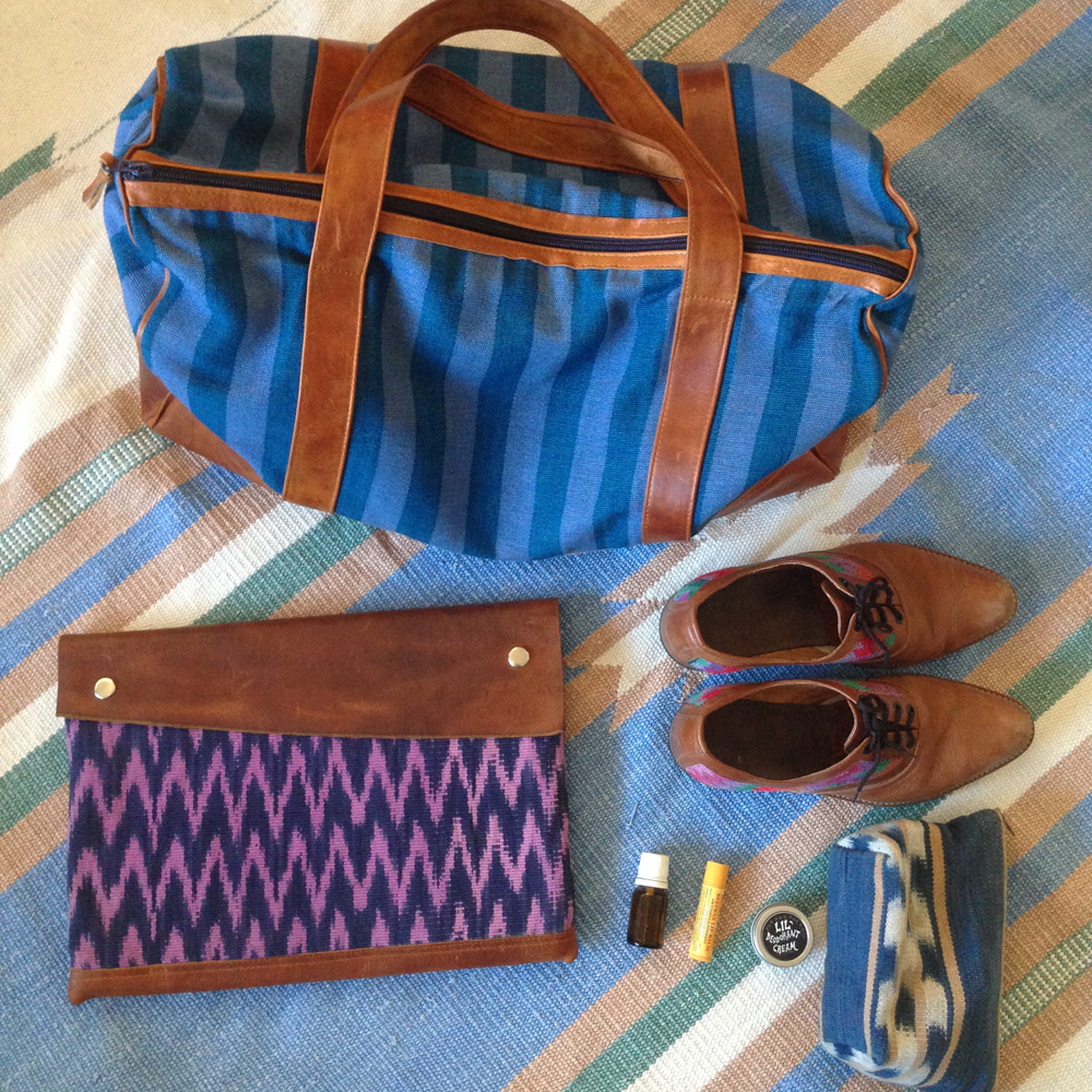 Handmade Duffel Bag, a great ethical weekender made in Guatemala.