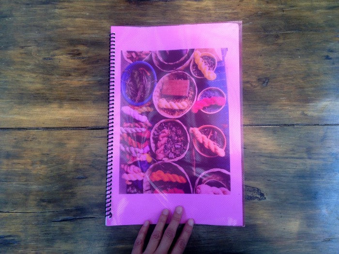 Natural dye sample booklet for custom orders