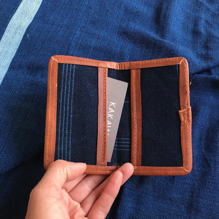 Card Holder Indigo Stripes