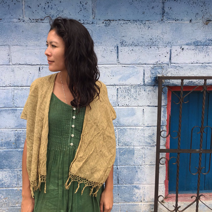 Plant-dyed Summer Cardigan