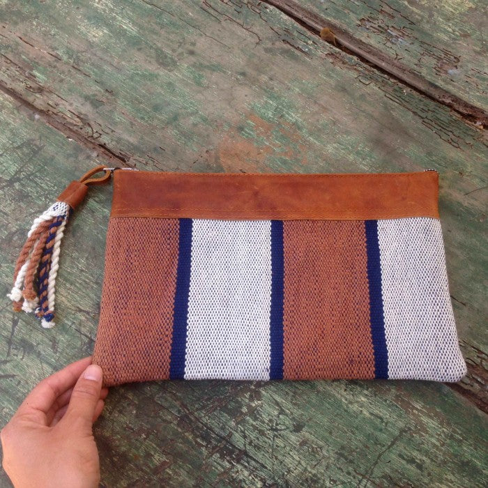 Handspun Cotton Clutch 1