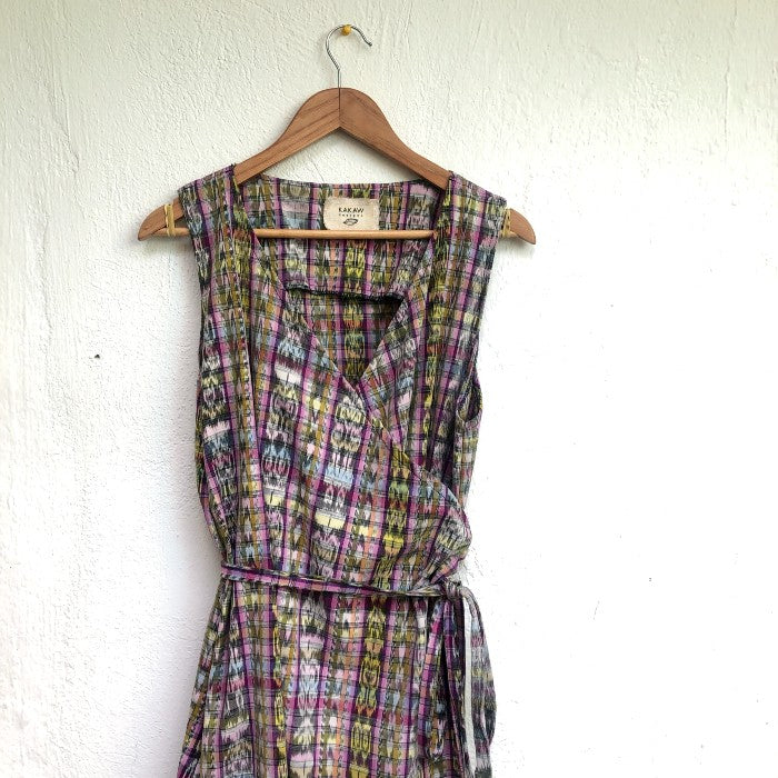Corte Wrap Dress 10: size L/XL