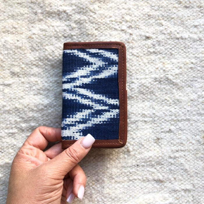 Card holder Indigo Diamonds 2