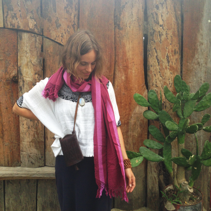 Plum Footloom Scarf
