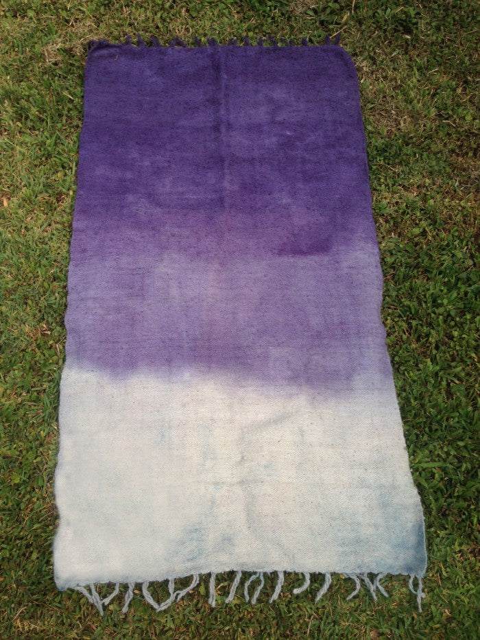Medium Wool Rug in Jacaranda / Indigo