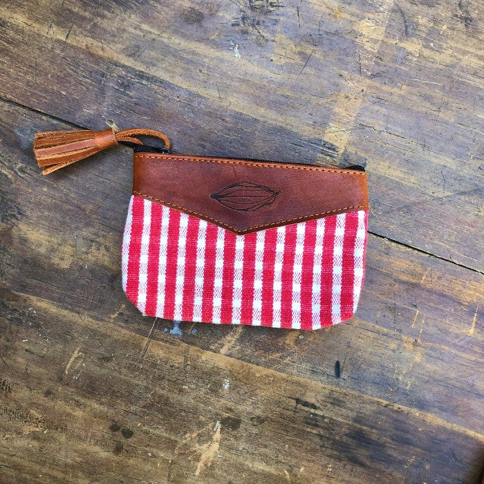 Textile + Leather Pouch 1