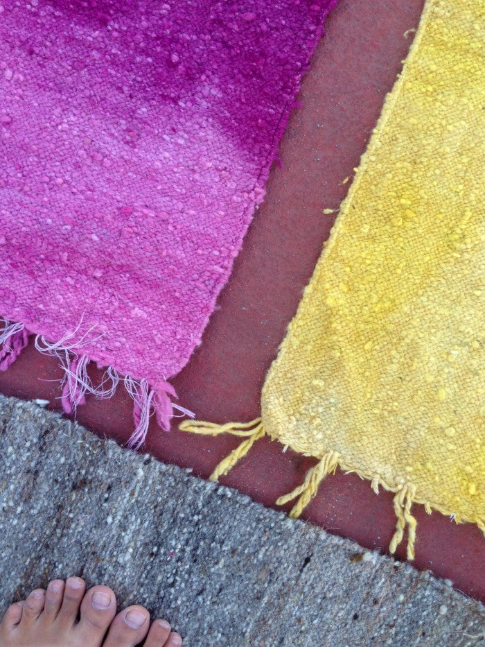 Small Wool Rug in Cochineal Gradient