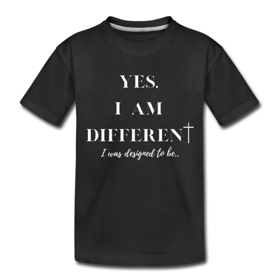 Kid's Yes I'm Different Tee - black