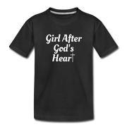 GIRL AFTER GOD'S HEART TEE - black