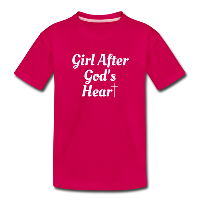 GIRL AFTER GOD'S HEART TEE - dark pink