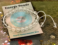 "QUARTZ Crystal Energy Bracelet, Adjustable Silk Cord (8mm) ""Master Healer 7 Amplifier"""