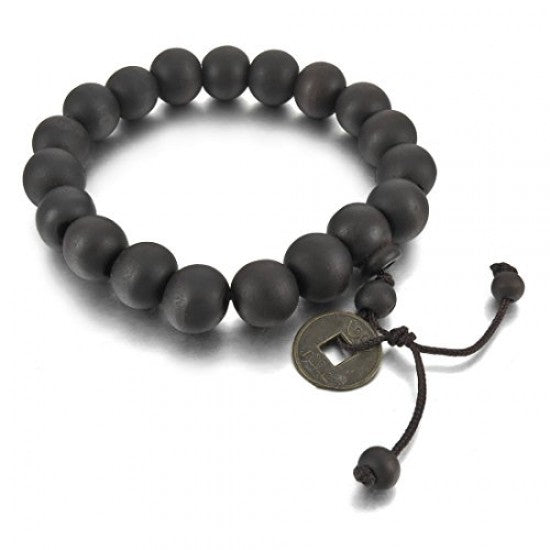 "Sandalwood ""I Ching ""Energy Bracelet Black ~ Grandi"