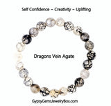 AGATE 'Dragons Vein' Energy Bracelet