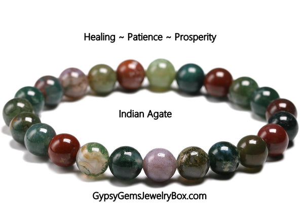 "AGATE 'Indian Agate' Energy Bracelet ""Luck"""