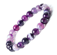 "AGATE 'Botswana' Energy Bracelet ""Purple Passion"""""
