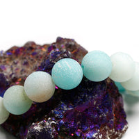 "AMAZONITE Energy Bracelet - Frosted  ""EMF Protection"""