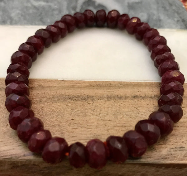 "RUBY Energy Bracelet  ""Dark Passion"""