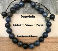 DUMORTIERITE Energy Bracelet, Adjustable