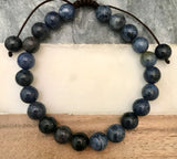 "DUMORTIERITE Energy Bracelet, Adjustable Cord (8mm) ""Boost Self-Esteem"""