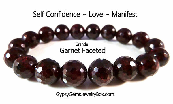 GARNET Faceted Energy Bracelet