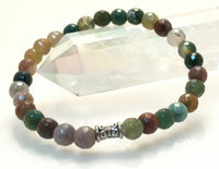"AGATE 'Indian Agate' Energy Bracelet Faceted ""Minimalist"""