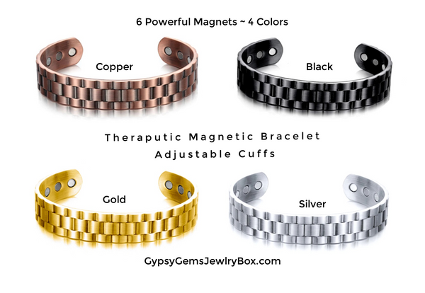 Magnetic Therapy Bracelet Weave Design Solid Heavy (4 Colors)