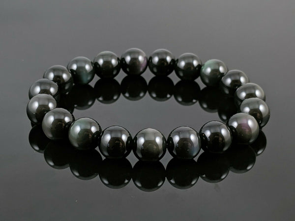 "OBSIDIAN 'Rainbow' Energy Bracelet ""Shield"""