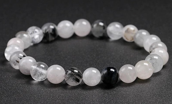 QUARTZ 'Tourmalinated Quartz' Energy Bracelet