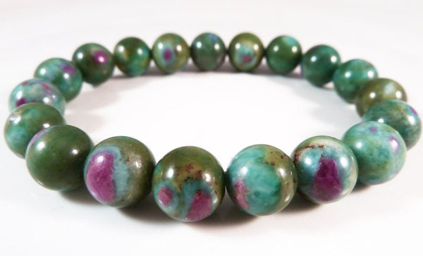 RUBY in FUCHSITE Energy Bracelet 'Heart Stone'