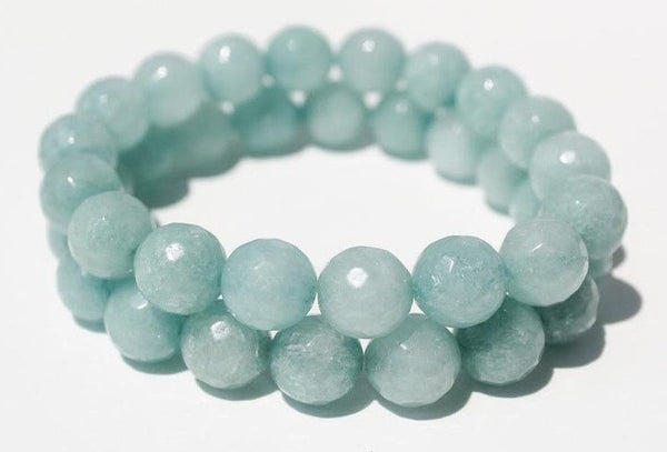 "JADE 'Teal Blue Jadeite' Energy Bracelet (10mm) ""Stone of Wisdom"""