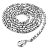 "Stainless Steel Mens Link Chain 24"" Necklace"