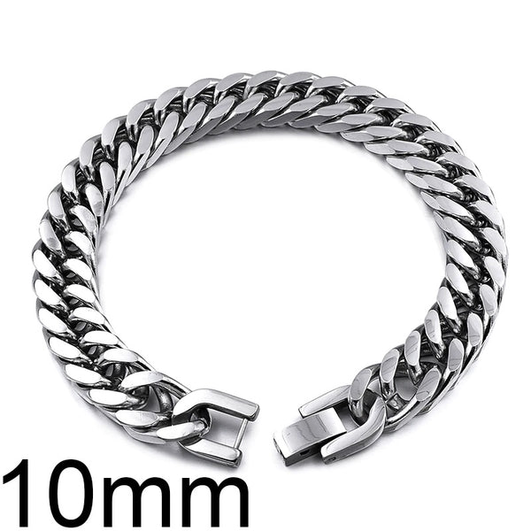 Stainless Steel Antique Link Chain Bracelet