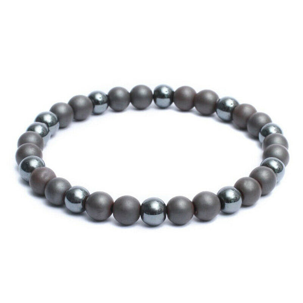 PYRITE & HEMATITE Energy Bracelet (4mm) Minimalist (EMF Protection)