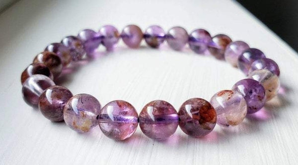QUARTZ 'Purple Phantom Quartz' Energy Bracelet
