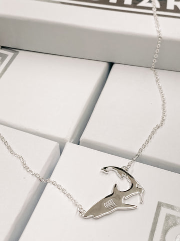 Cape Shark Sterling Silver Necklace