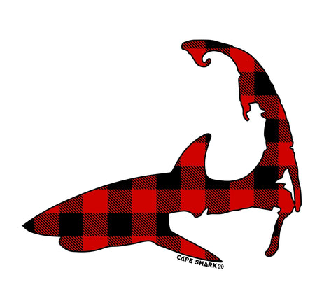 Pattern Shark - Red/Black Buffalo Plaid