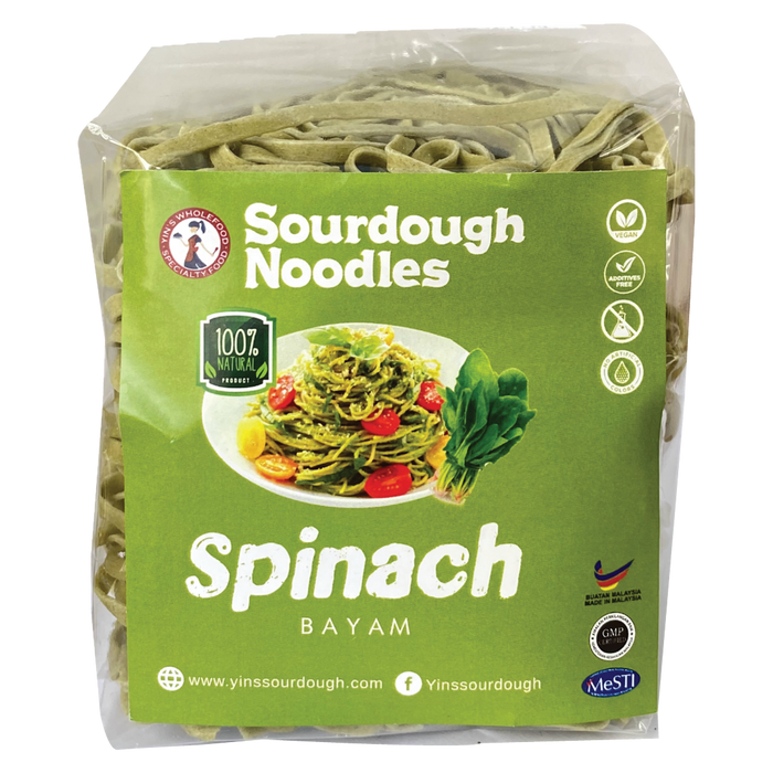 Spinach Sourdough Noodles