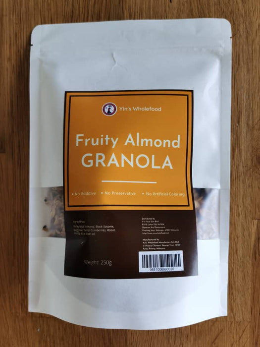 Fruity Almond Granola by Yin's