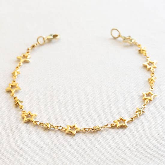Gold Stars Choker Necklace Chain