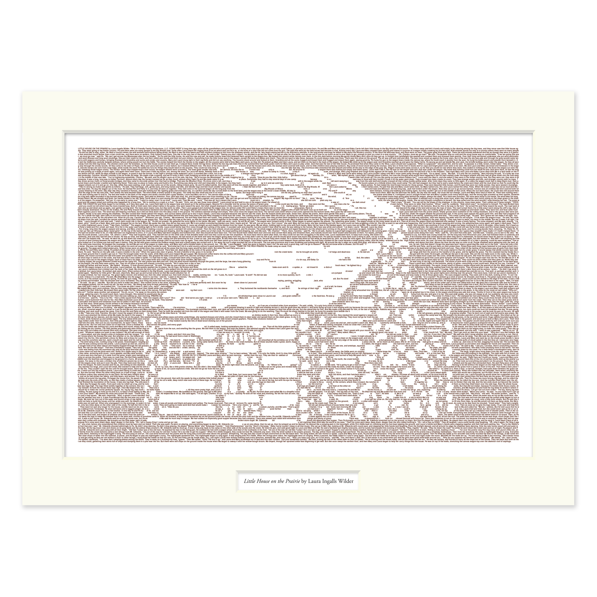 Little House on the Prairie Matted Print