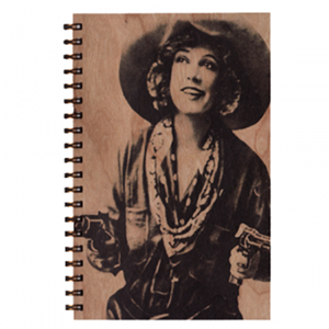 Cowgirl - Wood Notebook