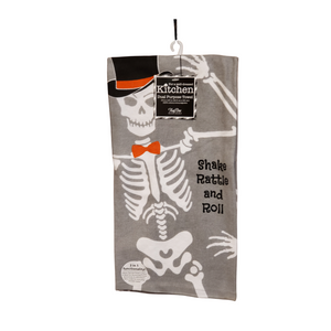 Skeleton dishtowel
