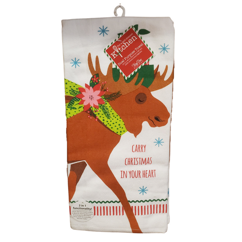 Christmas Moose Towel