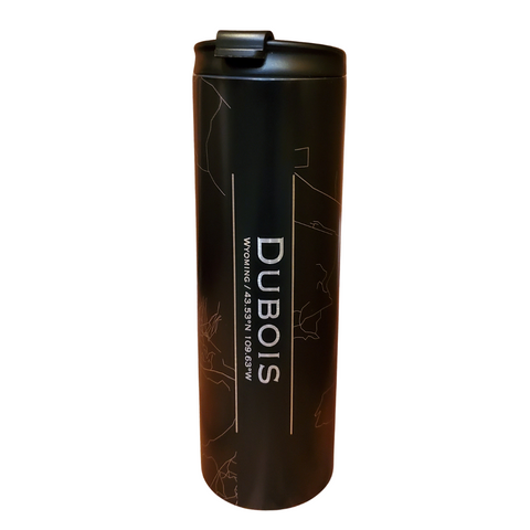 Dubois Map Tumbler in Matte Black