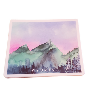 Wyoming Mountains State Sticker